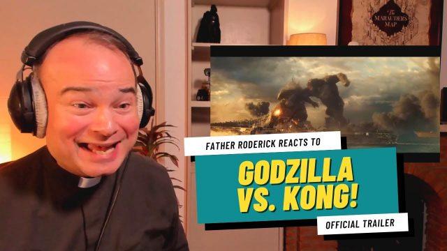 Godzilla vs Kong Trailer Reaction by a Priest!